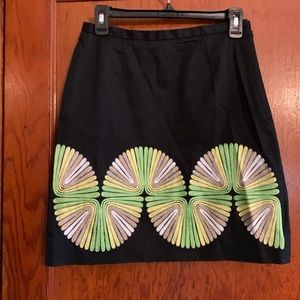Etcetera Size 2 Skirt with stitched pattern
